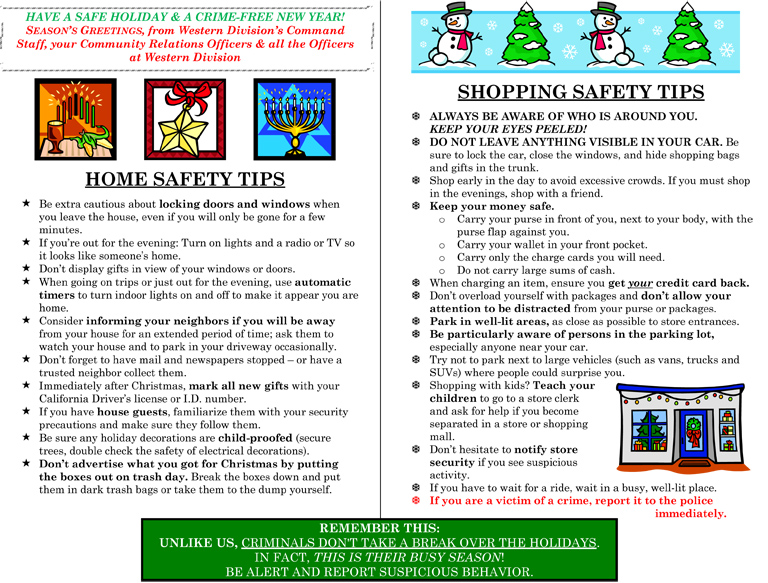 90+ Holiday Shopping Safety Tips