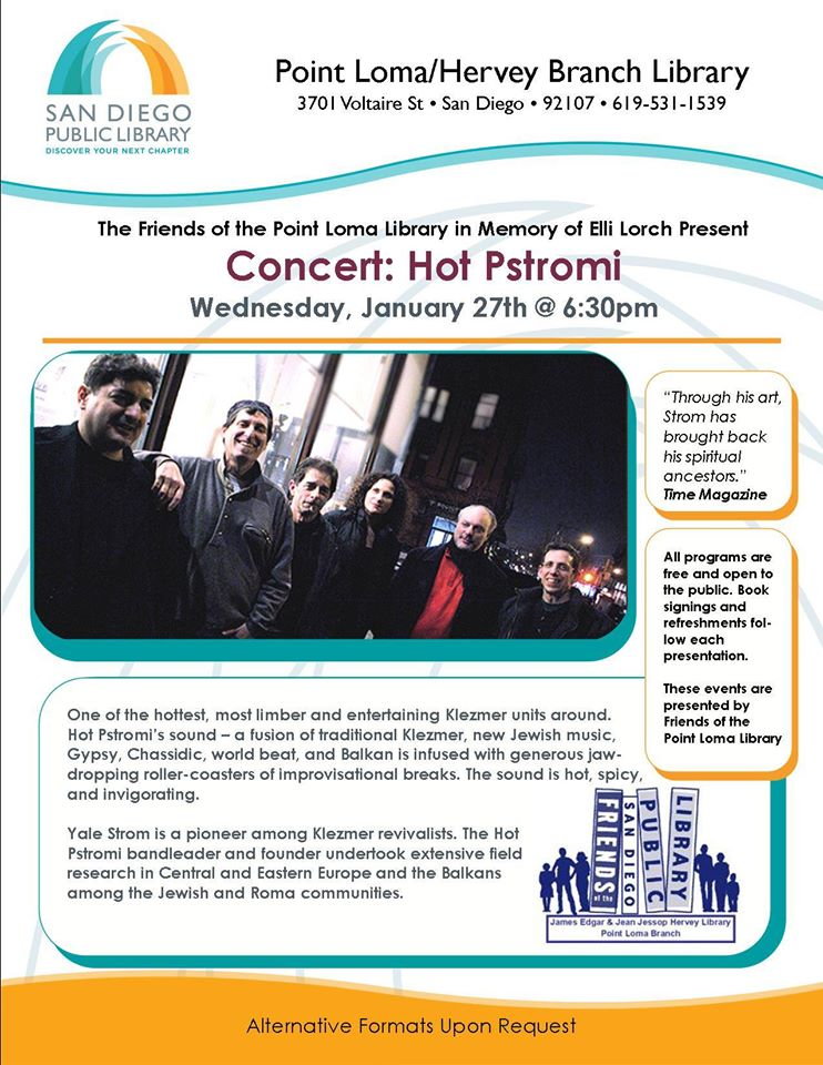 Concert: Hot Pstromi at PL Library