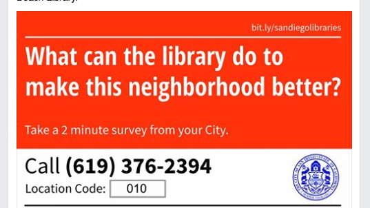 San Diego Library Survey