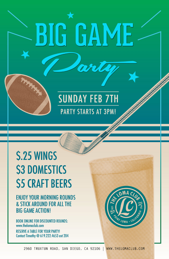 Big Game Party at the Loma Club