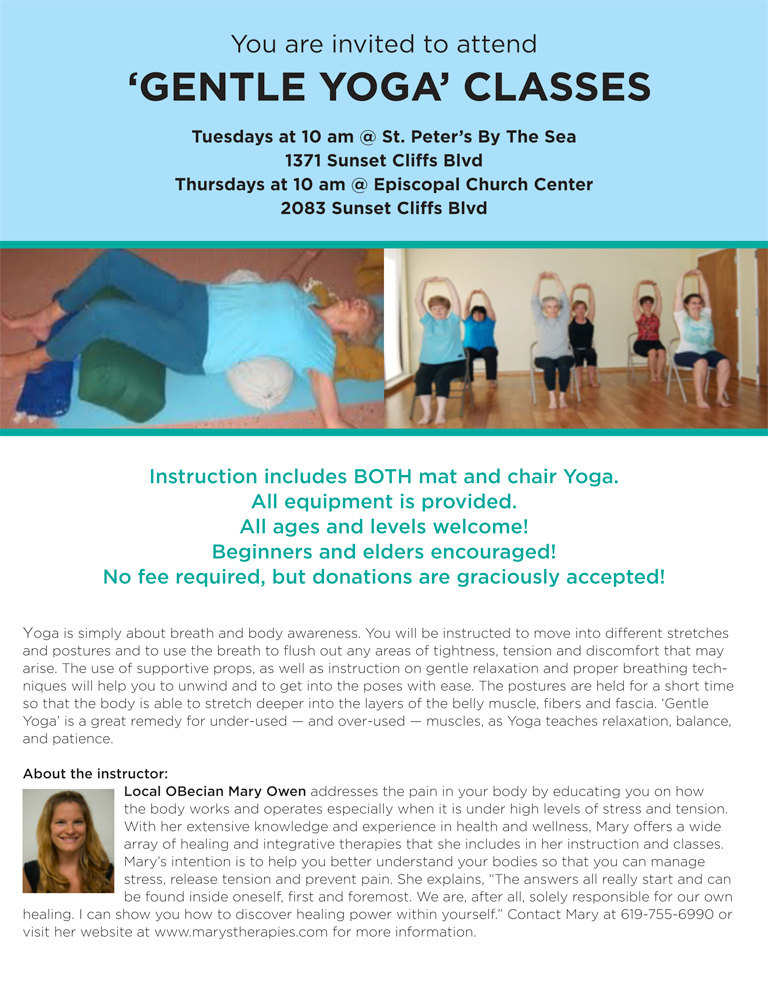 Gentle Yoga with Mary's Therapies