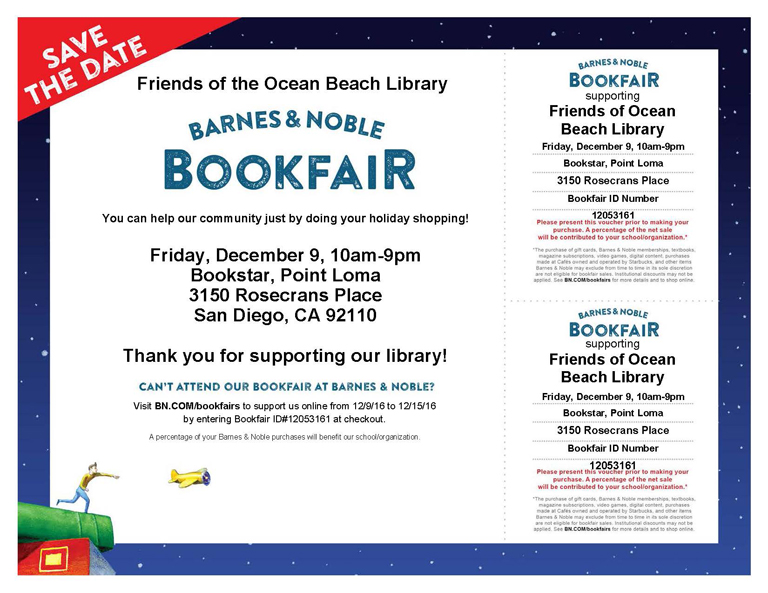 Holiday Book Fair Supporting OB Library
