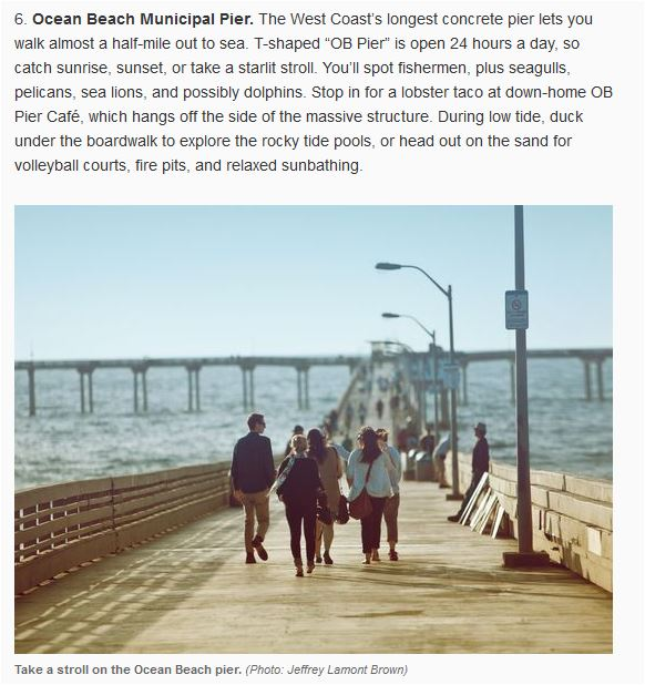 OB Pier in USA Today