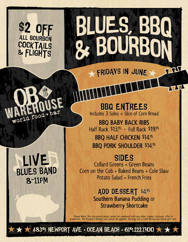 Blues, BBQ, & Bourbon at OB Warehouse