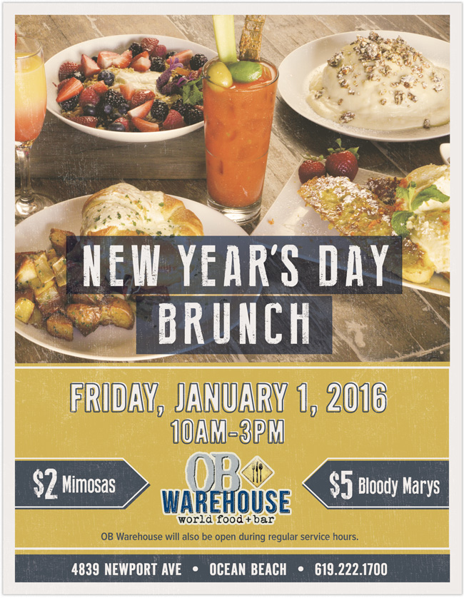New Year's Day Brunch at OB Warehouse
