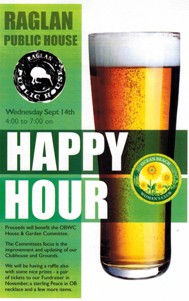 Happy Hour for OBWC at Raglan Public House