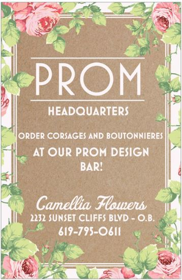 Prom Design Bar at Camellia Flowers and Gifts