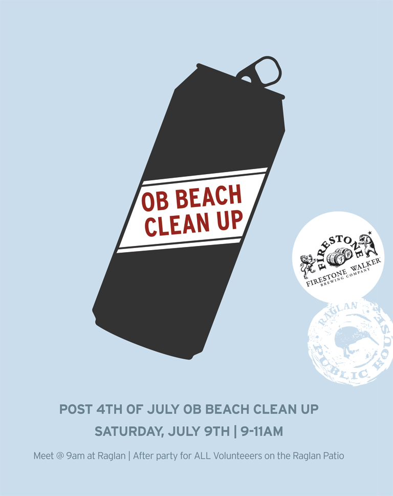 Post 4th of July OB Beach Cleanup