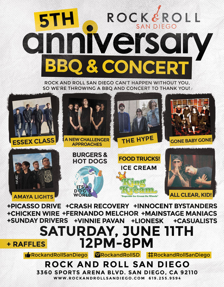 Rock & Roll San Diego's 5th Anniversary Party BBQ & Concert