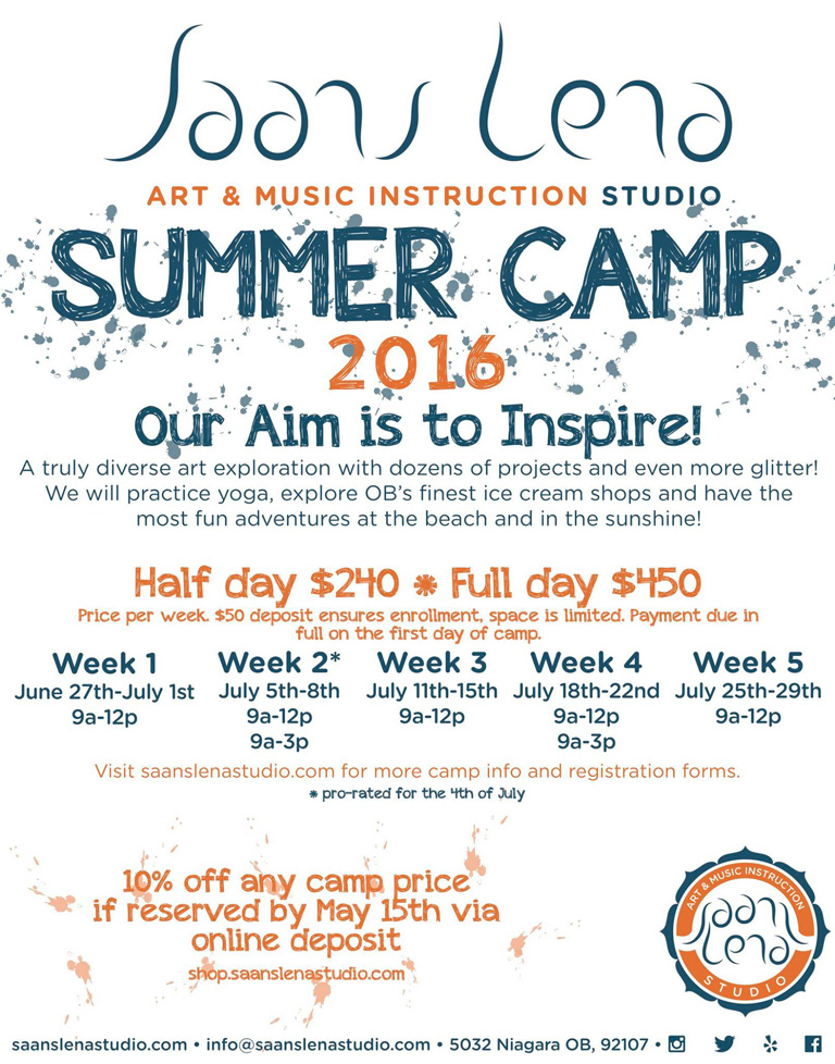 Registration Open for Saans Lena Studio's Summer Camps!