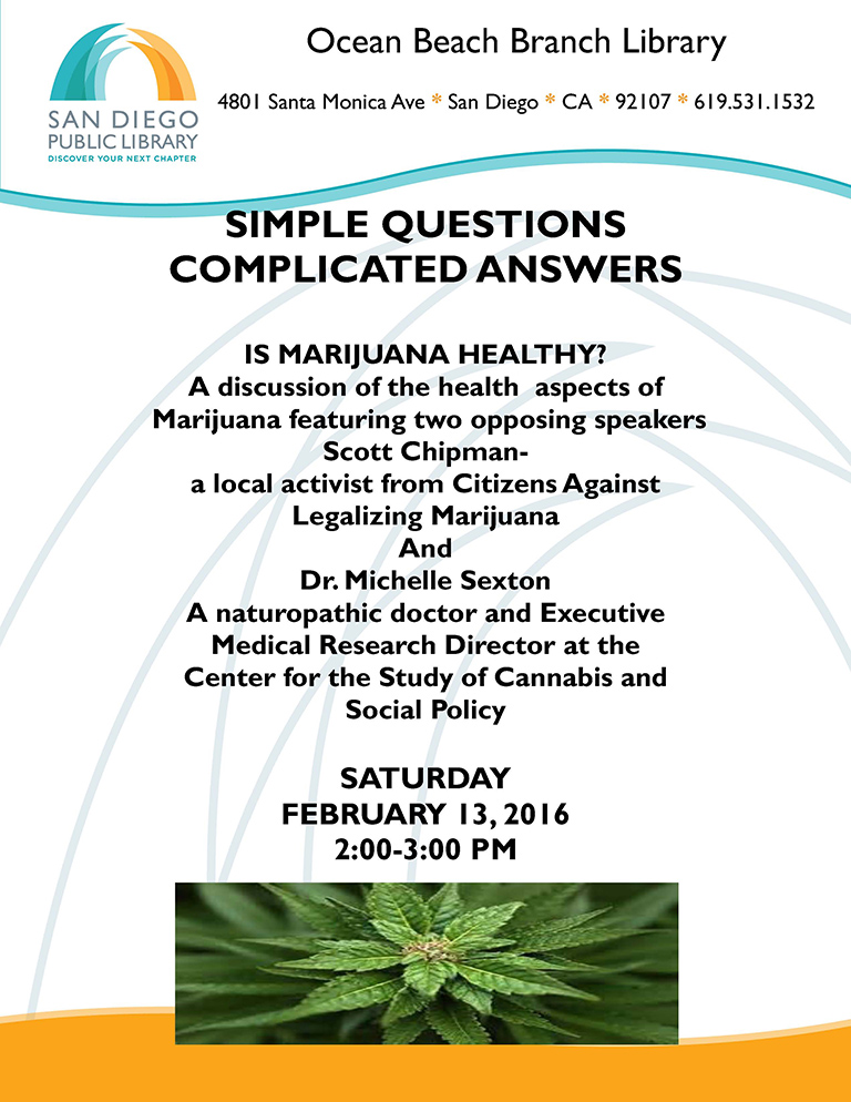 Hot Topic Debate: Is Marijuana Healthy? at OB Library