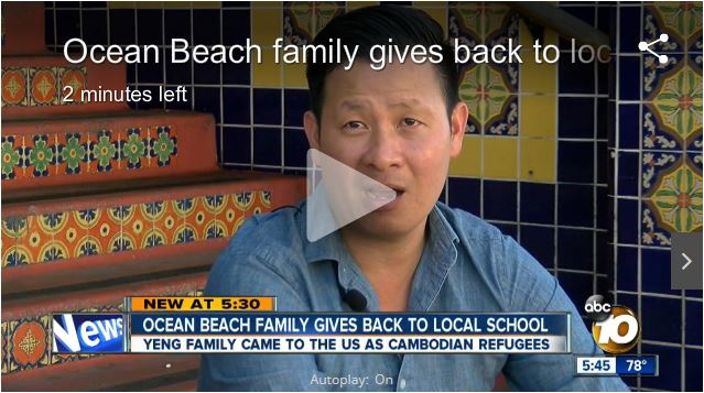 Ocean Beach Family Gives Back to Local School