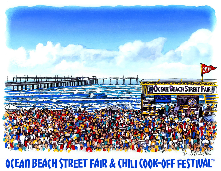 2016 Ocean Beach Street Fair Artwork by David Linton