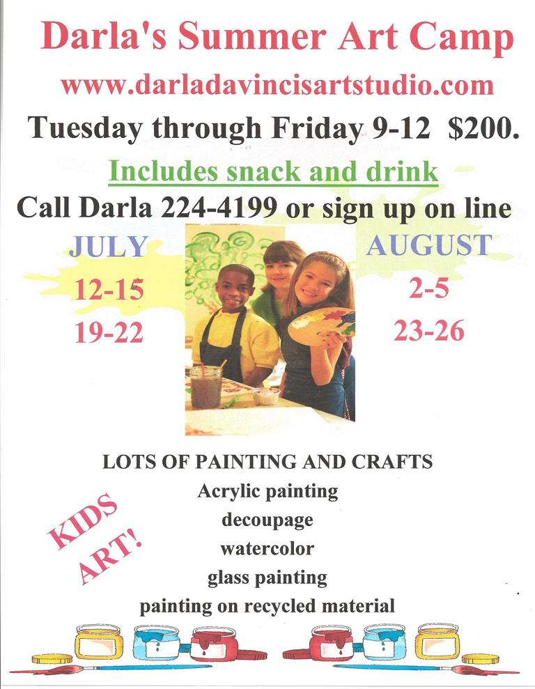 Sign Up Now for Darla's Summer Art Camp