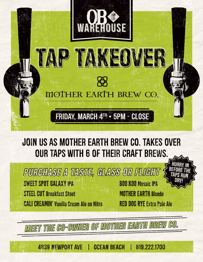 Tap Takeover at OB Warehouse