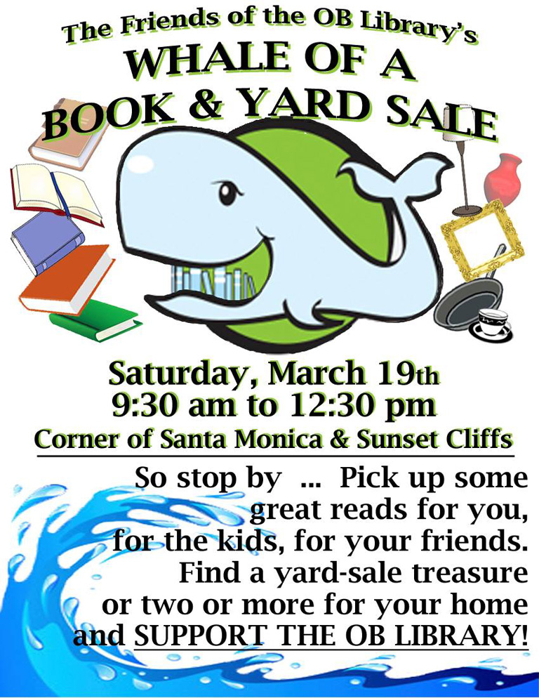 Whale of a Book & Yard Sale at OB Library