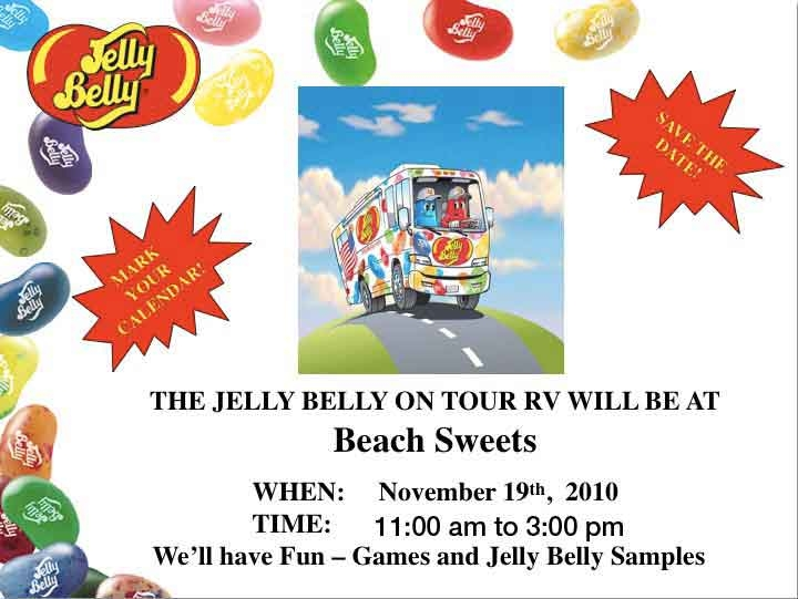 Jelly Belly touring bus is