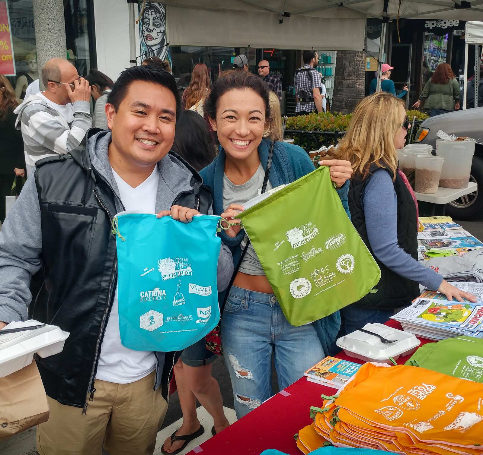 OBMA Reusable Bags for Farmers Market Shoppers