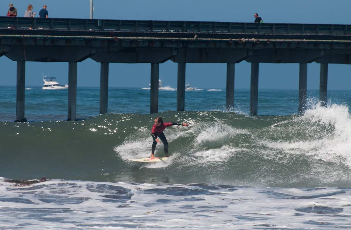 Surfer at Ocean Beach Grom Fest in San Diego California