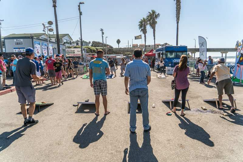 Oktoberfest bean bag toss in Ocean Beach San Diego