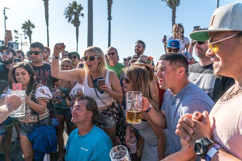 Oktoberfest in Ocean Beach San Diego Beer Garden in Pier Parkinglot