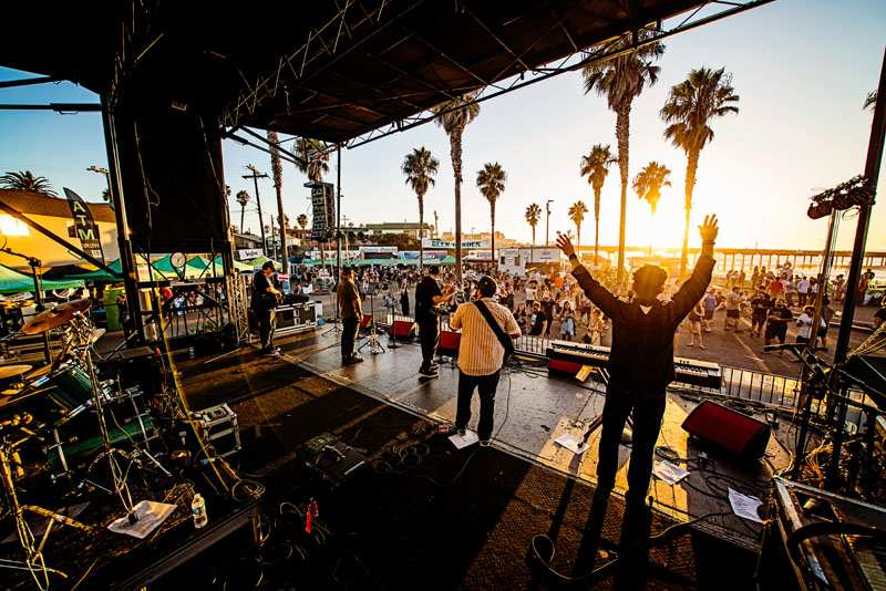 Oktoberfest in Ocean Beach San Diego Music and Beer Garden in Pier Parkinglot