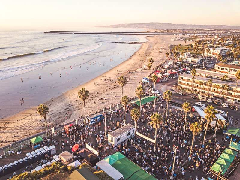 Oktoberfest in Ocean Beach San Diego Contests and Beer Garden in Pier Parkinglot