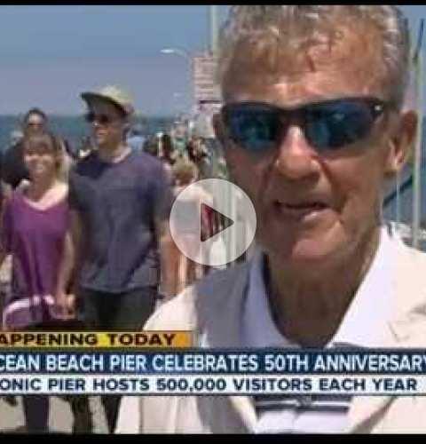 OB Pier 50th Anniversary Celebration ABC 10 Segment with Chuck Bahde - July 2, 2016