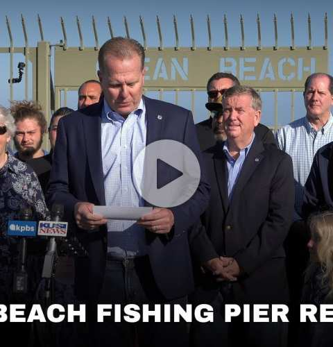 Ocean Beach Fishing Pier Reopens