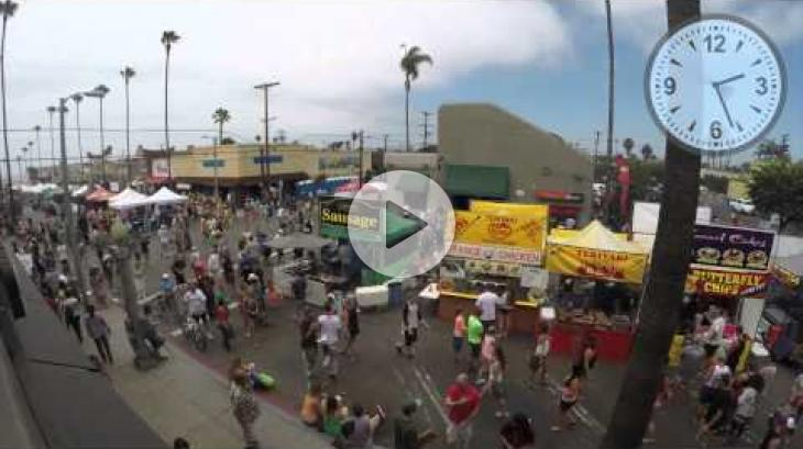OB Street Fair & Chili Festival 2014 Time Lapse - Newport Ave.