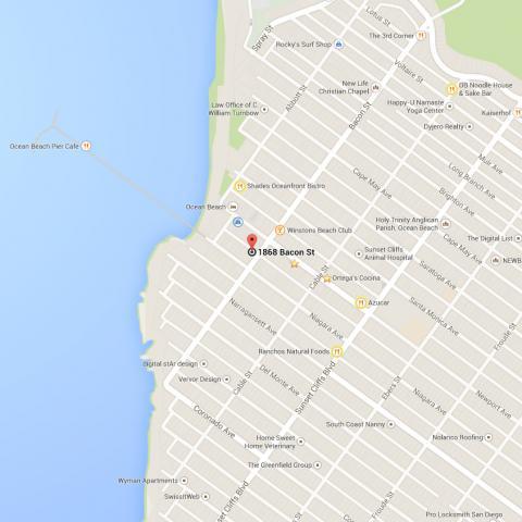 Maps Ocean Beach San Diego CA