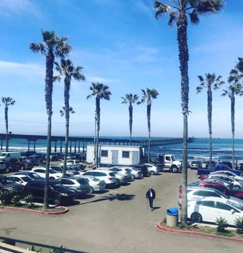 Ocean Beach News Article: OB Pier Parking Lot Trailer Removed