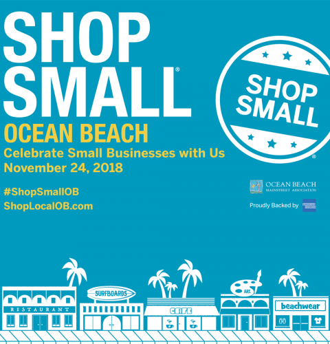 Ocean Beach News Article: Celebrate Small Business Saturday in Ocean Beach!