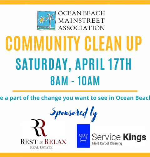 Ocean Beach News Article: OBMA Community Clean Up