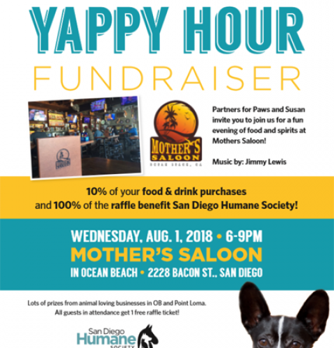 Ocean Beach Yappy Hour Fundraiser