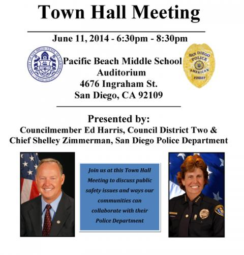 Town Hall Meeting with Ocean Beach's District Two and SDPD Chief Zimmerman