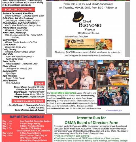 Ocean Beach MainStreet Association Newsletter May 2017