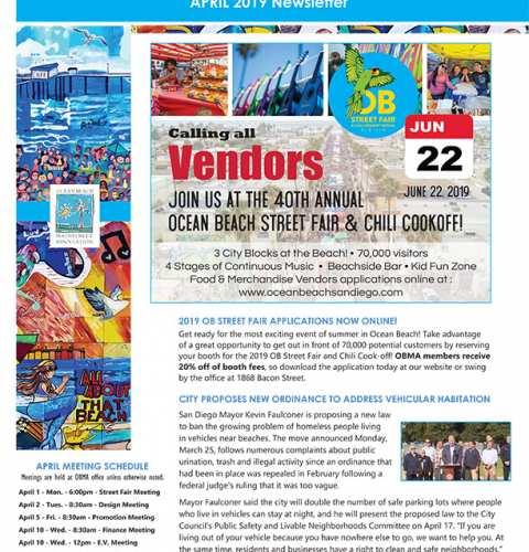 Ocean Beach MainStreet Association Newsletter April 2019