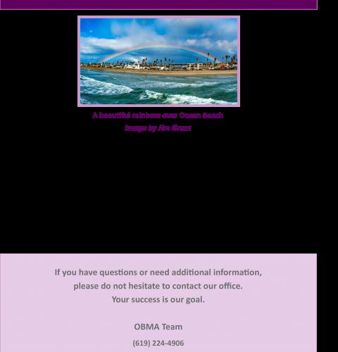 Ocean Beach MainStreet Association Newsletter April 2020