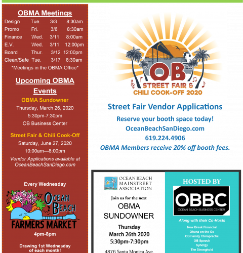 Ocean Beach MainStreet Association Newsletter March 2020