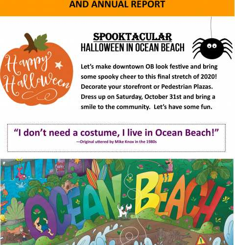 Ocean Beach MainStreet Association Newsletter October 2020