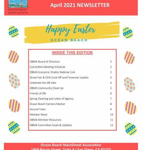 Ocean Beach MainStreet Association Newsletter April 2021