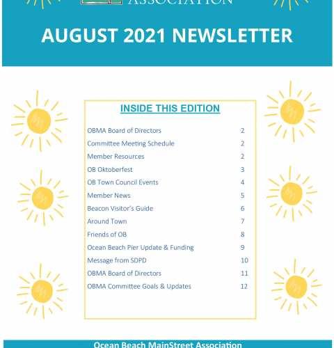 Ocean Beach MainStreet Association Newsletter August 2021