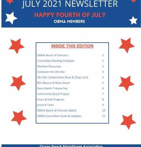 Ocean Beach MainStreet Association Newsletter July 2021