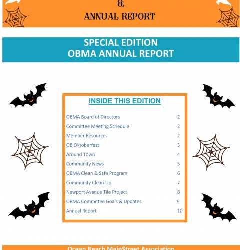 Ocean Beach MainStreet Association Newsletter October 2021