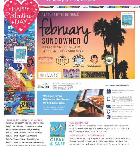 Ocean Beach MainStreet Association Newsletter February 2019