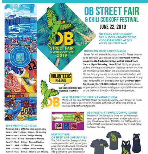 Ocean Beach MainStreet Association Newsletter June 2019