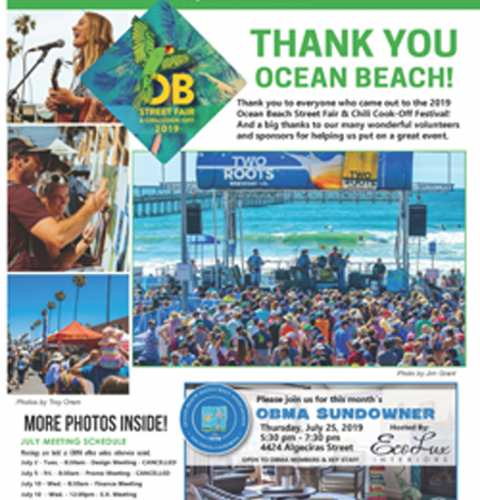 Ocean Beach MainStreet Association Newsletter July 2019