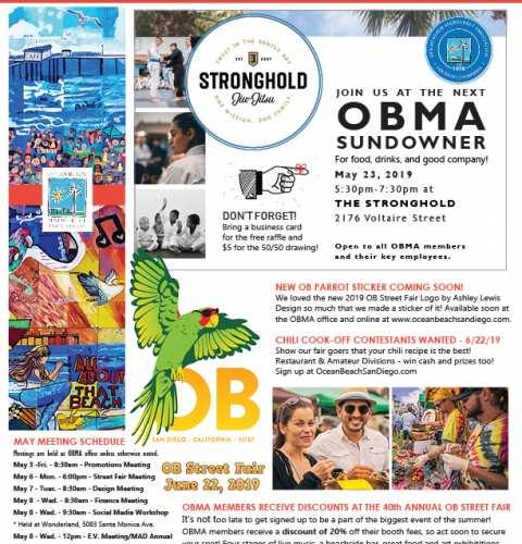 Ocean Beach MainStreet Association Newsletter May 2019