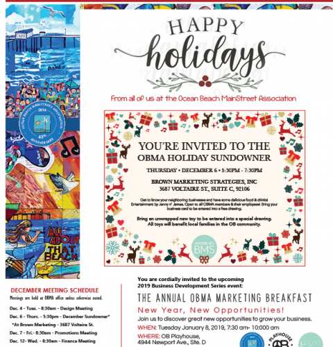 Ocean Beach MainStreet Association Newsletter December 2018